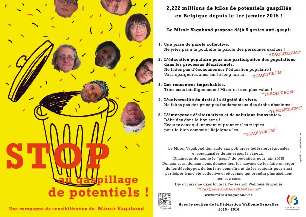 Campagnes de sensibilisation miroir vagabond asbl for Miroir vagabond