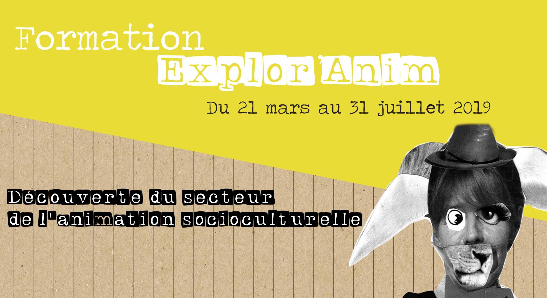 b20952a60964 la formation « Explor anim », organisée par le Miroir Vagabond asbl, se  déroulera du 21 mars au 31 juillet 2019.